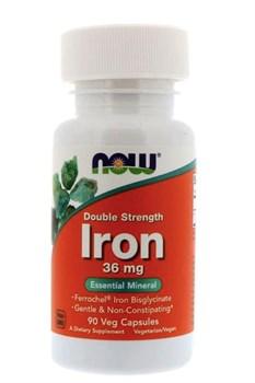 Now Foods, Железо 36 мг, 90 Caps - фото 5637