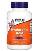 NOW Hyaluronic Acid + MSM 50 mg, 60 Капс.